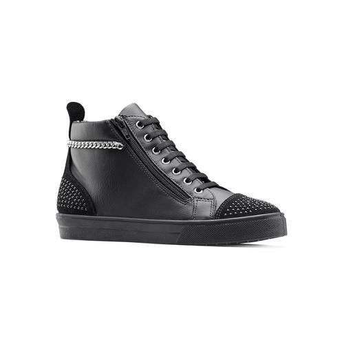 Sneakers alte con catena north-star, nero, 541-6203 - 13