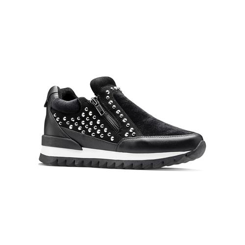 Sneakers nere con strass north-star, nero, 549-6294 - 13