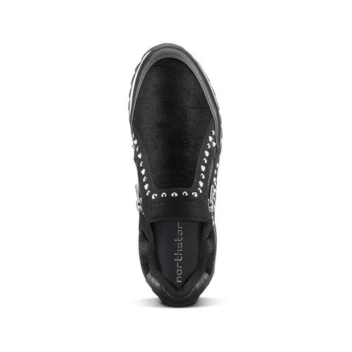 Sneakers nere con strass north-star, nero, 549-6294 - 15