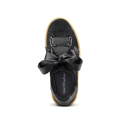 Sneakers nere con fiocco north-star, nero, 523-6484 - 15