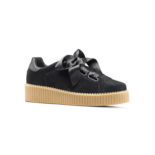 Sneakers nere con fiocco north-star, nero, 523-6484 - 13