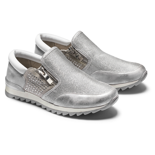 Sneakers glitter, argento, 329-1298 - 19