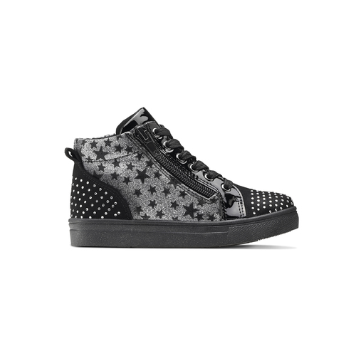 Sneakers alte con strass mini-b, nero, 229-6204 - 26