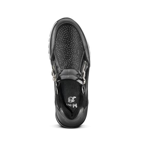 Sneakers slip-on con strass mini-b, nero, 329-6297 - 15