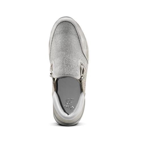 Sneakers glitter, argento, 329-1298 - 15