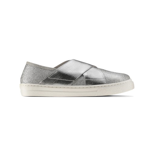 Sneakers silver metallizzate north-star, argento, 329-1305 - 26