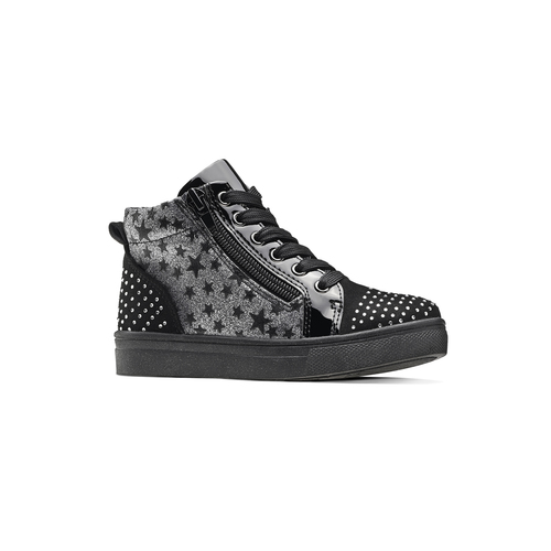 Sneakers alte con strass mini-b, nero, 229-6204 - 13