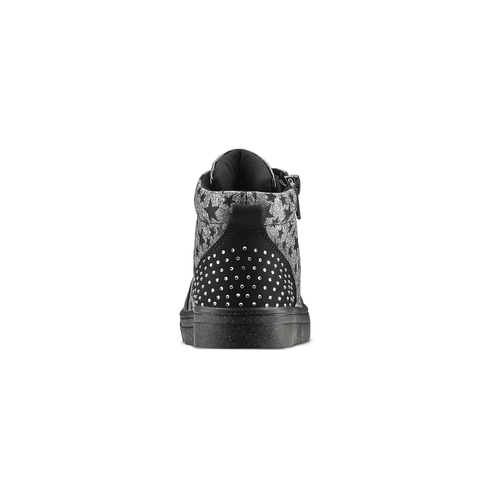 Sneakers alte con strass mini-b, nero, 229-6204 - 16