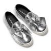 Slip-on silver con fiocco north-star, argento, 321-1311 - 19