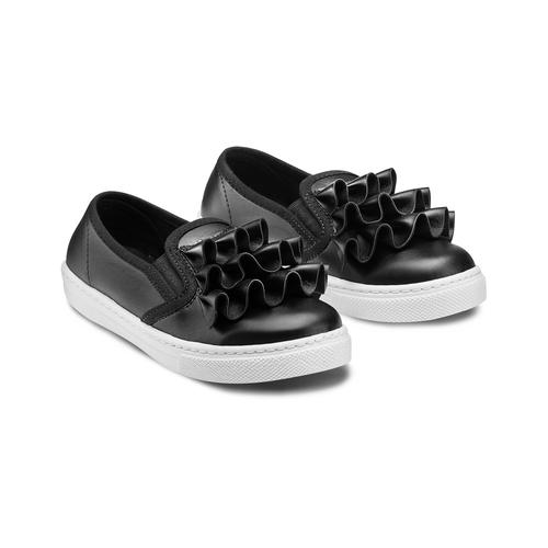 Sneakers bimba dettaglio rouches north-star, nero, 321-6142 - 16