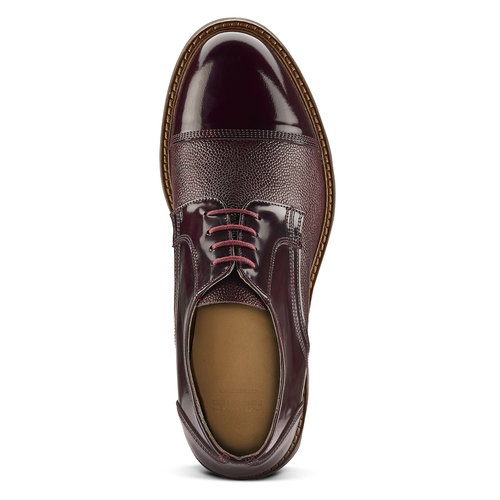 Scarpe stringate bordeaux bata-the-shoemaker, rosso, 824-5187 - 15