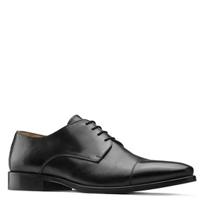 Stringate Derby in vera pelle nera bata-the-shoemaker, nero, 824-6184 - 13