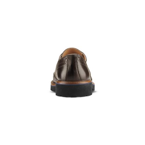 Stringate Derby in pelle bata-the-shoemaker, marrone, 824-4186 - 16