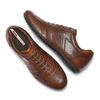 Stringate in vera pelle bata, marrone, 844-4381 - 26