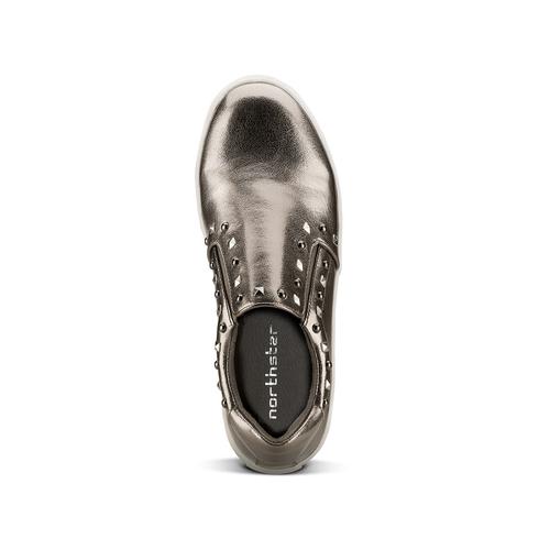 Sneakers metallizzate con borchie north-star, 511-2385 - 15