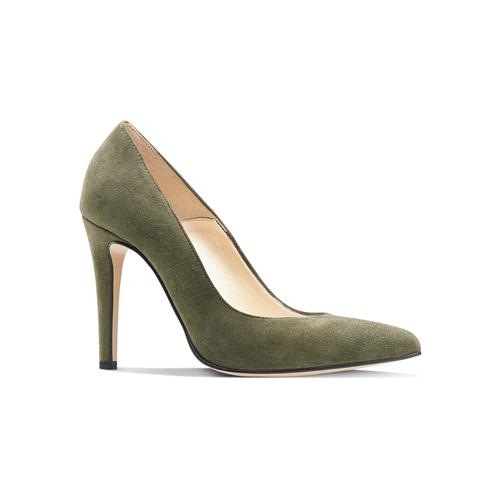 Décolleté in suede con tacco stiletto insolia, verde, 723-7111 - 13