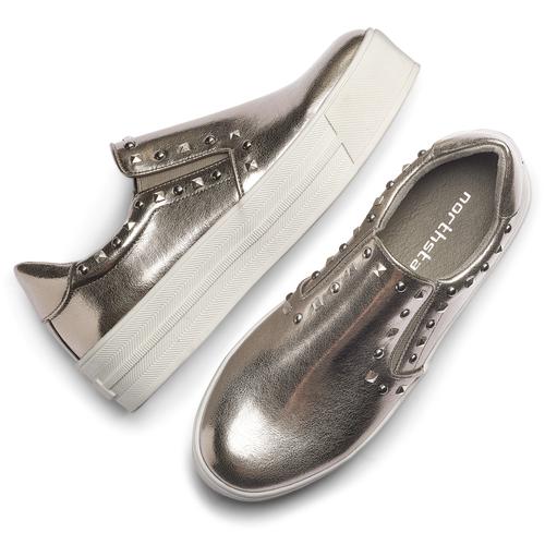 Sneakers metallizzate con borchie north-star, 511-2385 - 19