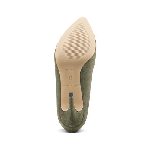 Décolleté in suede con tacco stiletto insolia, verde, 723-7111 - 17