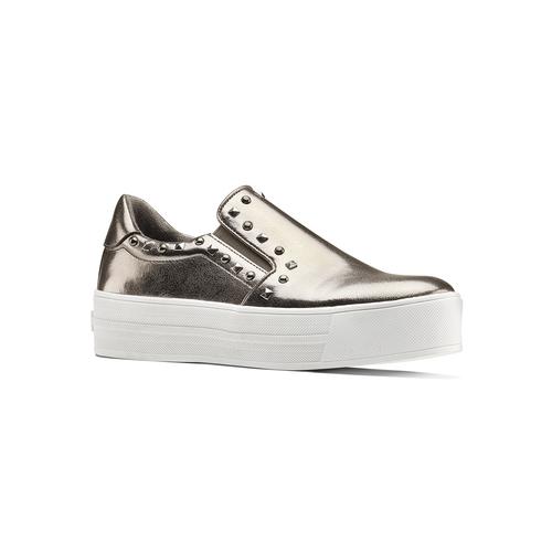 Sneakers metallizzate con borchie north-star, 511-2385 - 13
