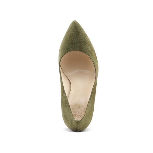 Décolleté in suede con tacco stiletto insolia, verde, 723-7111 - 15