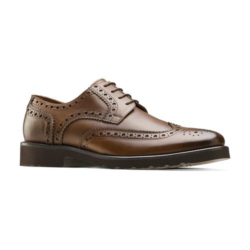 Derby in pelle marrone da uomo bata-light, marrone, 824-4399 - 13