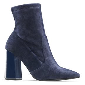 Tronchetti in velluto bata, blu, 799-9648 - 13