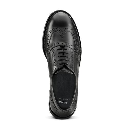 Stringate Oxford in pelle bata, nero, 524-6655 - 15