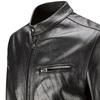 Giubbotto in pelle da uomo con zip bata, nero, 974-6142 - 15