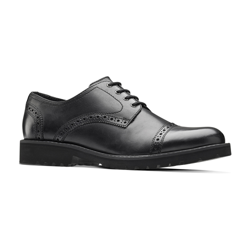 Scarpe derby in pelle bata-light, nero, 824-6977 - 13
