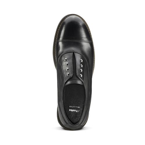Scarpe basse senza lacci con borchie bata, nero, 514-6248 - 15