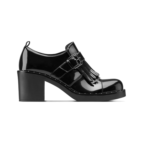 Mocassini con tacco bata, nero, 611-6119 - 26