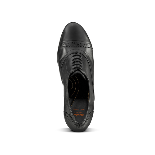 Francesine con tacco flexible, nero, 624-6252 - 15
