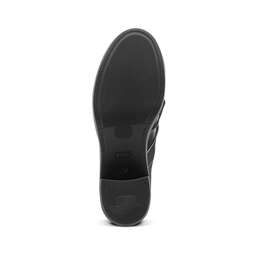 Mocassini con tacco bata, nero, 611-6119 - 17