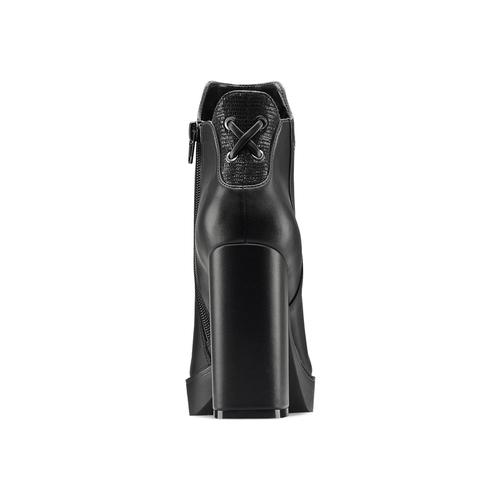 Tronchetti con tacco alto bata, nero, 791-6658 - 16