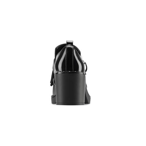 Mocassini con tacco bata, nero, 611-6119 - 16