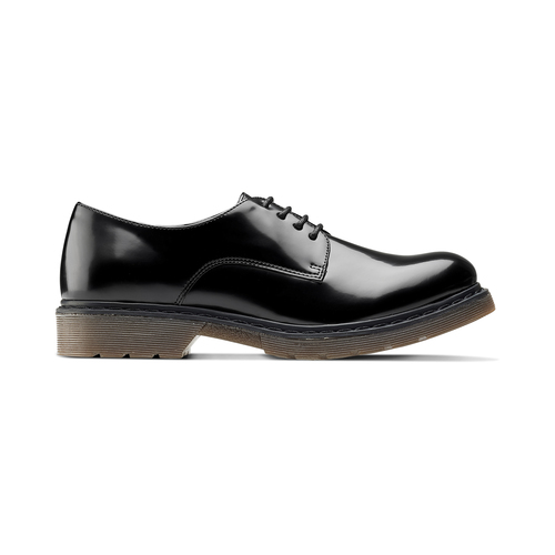 Stringate con suola contrasto bata, nero, 521-6667 - 26