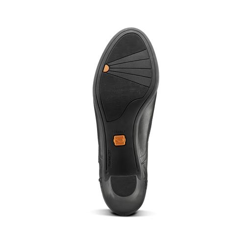 Francesine con tacco flexible, nero, 624-6252 - 17