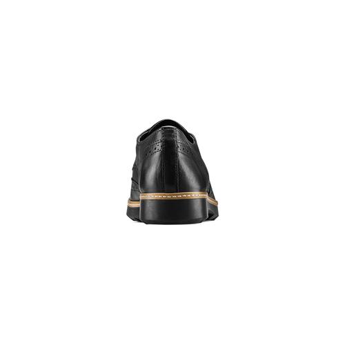 Stringate Flexible in pelle flexible, nero, 524-6174 - 15