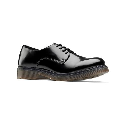 Stringate con suola contrasto bata, nero, 521-6667 - 13
