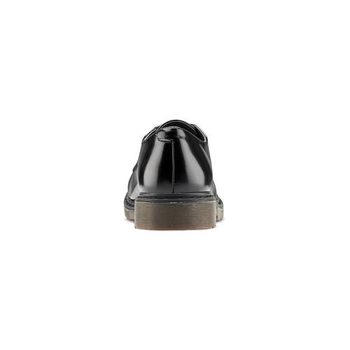 Stringate con suola contrasto bata, nero, 521-6667 - 16