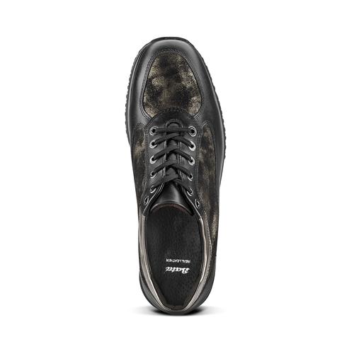 Scarpe con intarsi laminati bata, nero, 524-6663 - 15