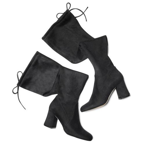 Stivali Bata con tacco largo bata, nero, 799-6661 - 19