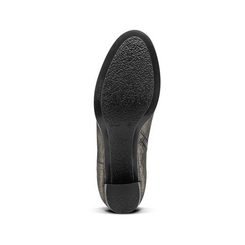 Tronchetti in pelle con tacco bata, nero, 794-6690 - 17