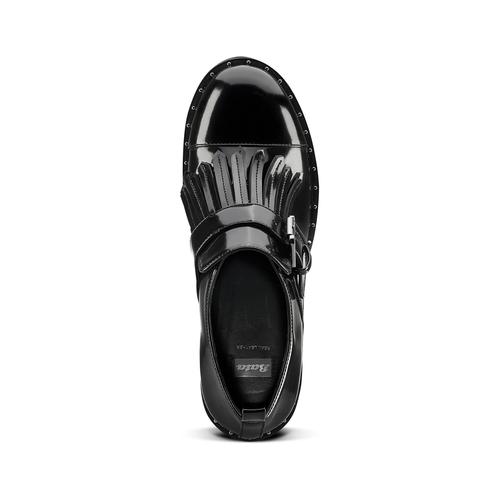 Mocassini con tacco bata, nero, 611-6119 - 15