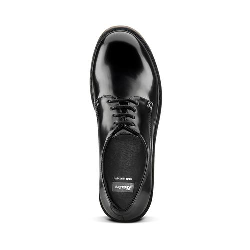 Stringate con suola contrasto bata, nero, 521-6667 - 15