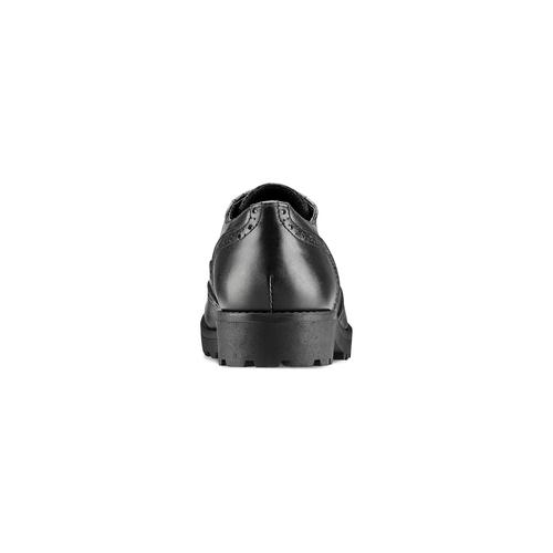 Stringata in pelle nera bata, nero, 524-6135 - 16