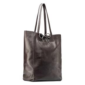 Shopper in Vera Pelle bata, marrone, 964-4122 - 13