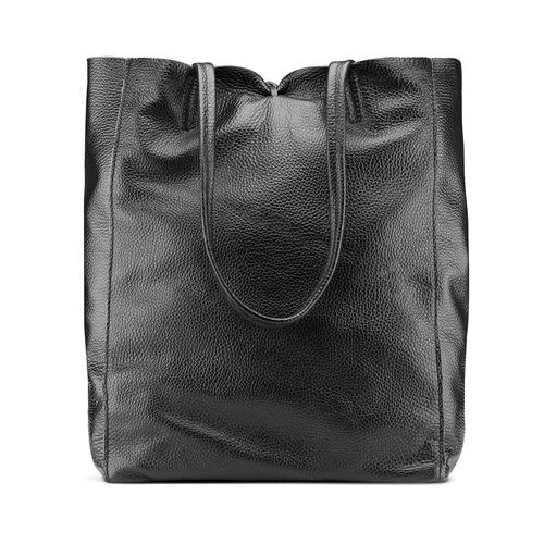 Shopper in Vera Pelle bata, nero, 964-6122 - 26