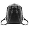 Zaino Unisex in Vera Pelle con zip bata, nero, 964-6240 - 26