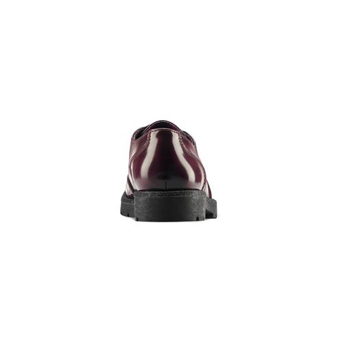 Stringate Bordeaux bata, rosso, 521-5666 - 16